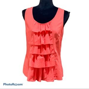 Fei Anthropologie cotton top with frills